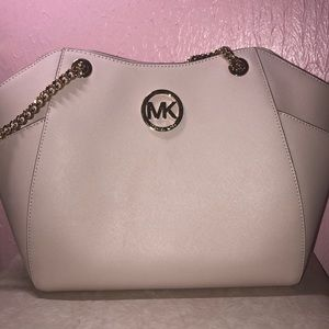 Blush pink Michael Kors satchel